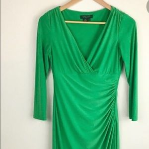 Ralph Lauren emerald green wrap dress